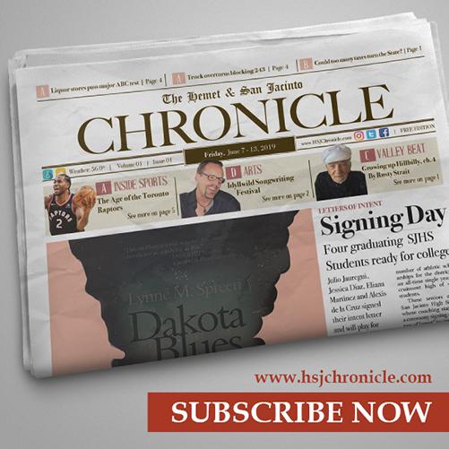 Subscribe to The Hemet & San Jacinto Chronicle