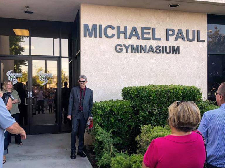 Renaming the Gymnasium after him