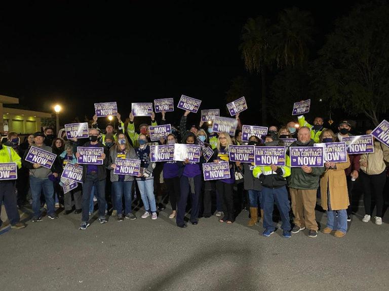 SEIU Local 721 Demonstrates Outside City Hall