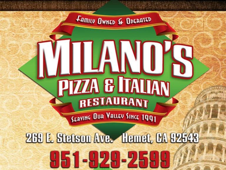 Milano's Pizza celebrates 30 years serving the Hemet community