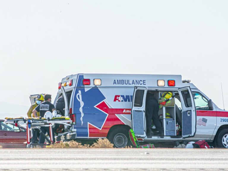 Motorcyclist Flown Out After Accident North of Calexico