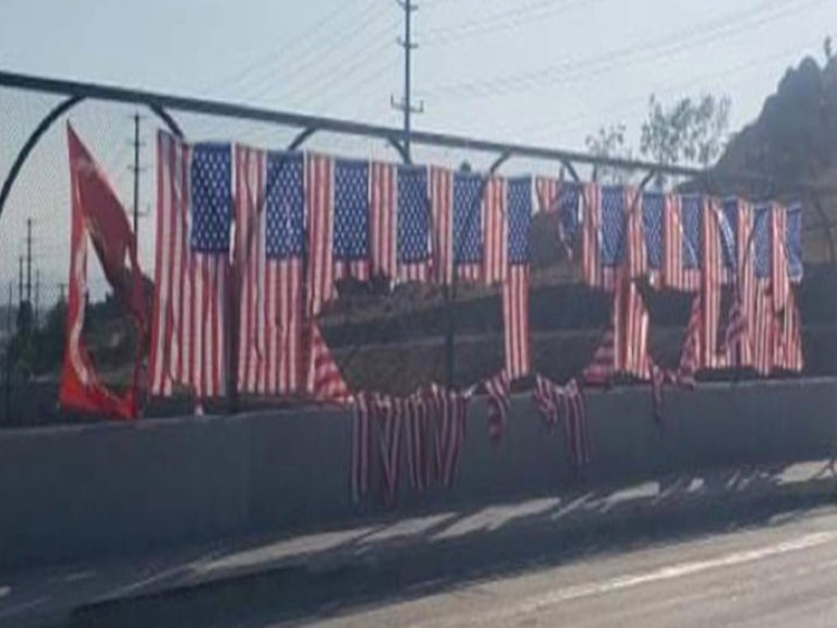 Flags honoring 13 U.S. service members killed in Kabul airport attack found vandalized in Riverside