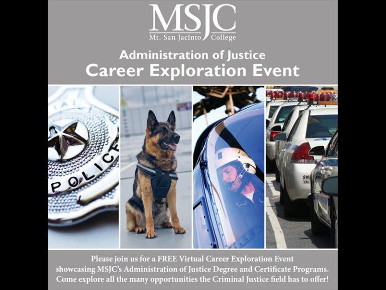 Mt. San Jacinto College (MSJC) Hosts Administration of Justice Career Exploration Events