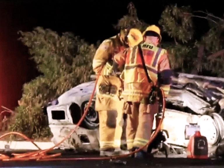 Car that plunged off California cliff drove through big lot