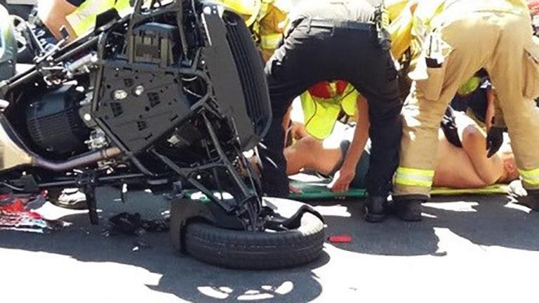Motorcyclist seriously injured after Hemet Crash