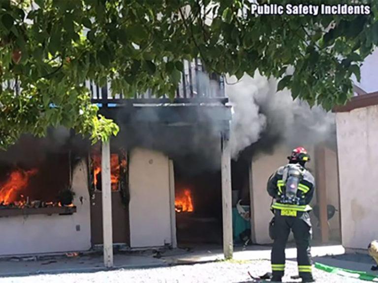 15 Displaced, Firefighter hospitalized, after blaze destroys Hemet apartment complex