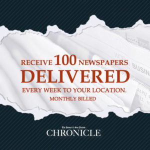 Distribute the paper 100 pcs. monthly - The Hemet & San Jacinto Chronicle