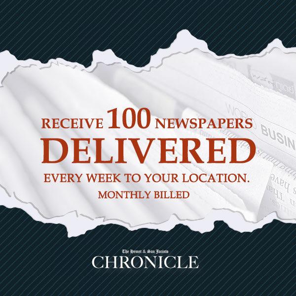 Distribute the paper 100 pcs. monthly - The Hemet & San Jacinto Chronicle