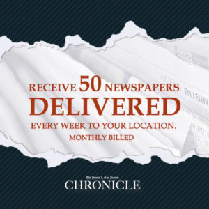 Distribute the paper 50 pcs. monthly - The Hemet & San Jacinto Chronicle