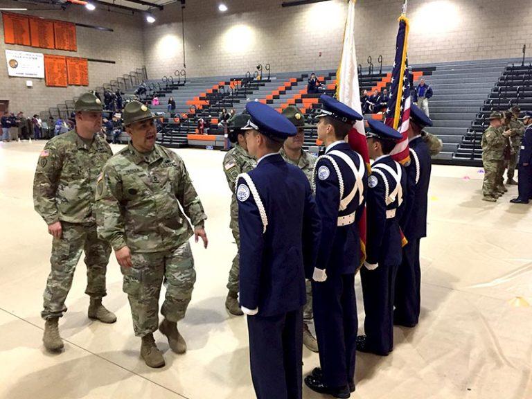 San Jacinto High School's AFJROTC Color Guard Competition February 1