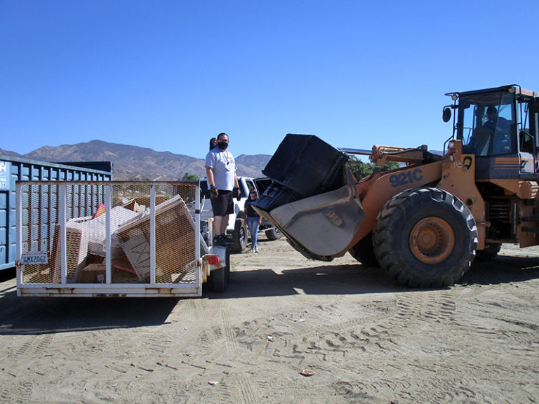 COMMUNITY CLEANUP AT SOBOBA INDIAN RESERVATION
