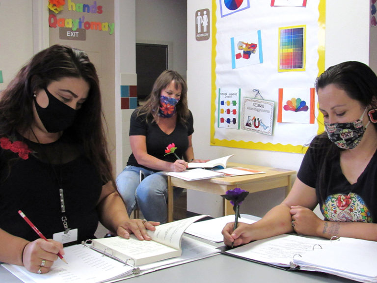 Teachers Become Students at Soboba Preschool