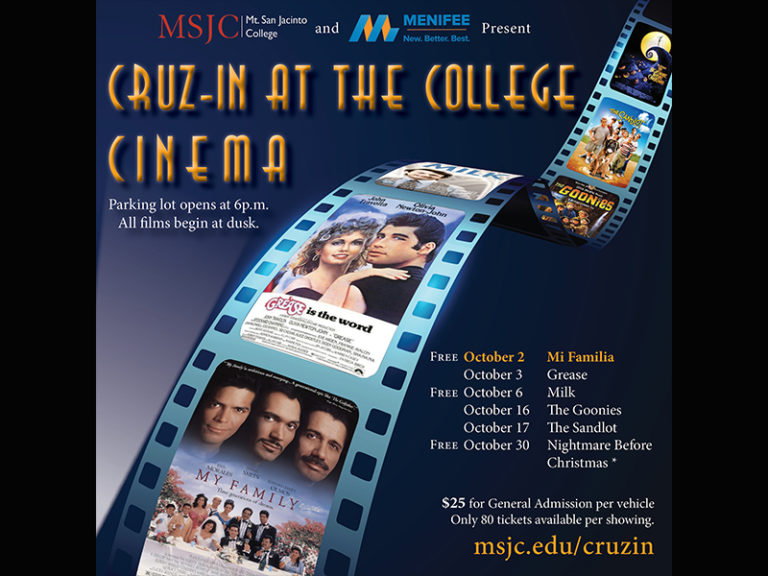 MSJC Foundation, City of Menifee Launch Drive-In Movies in October