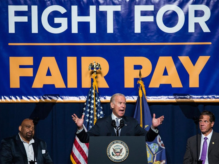 Biden signs $15 minimum wage for federal contract workers