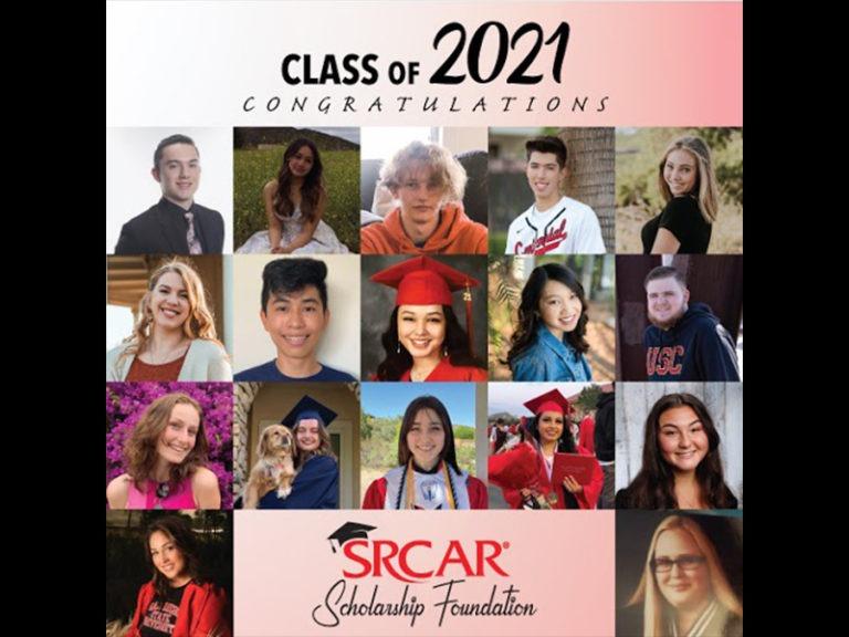 SRCAR® Scholarship Foundation Awards 17 Scholarships to Local High School Seniors, Class of 2021