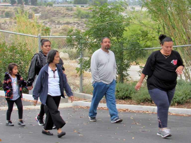 WALKING IS JUST THE FIRST STEP FOR SOBOBA TRIBAL MEMBER